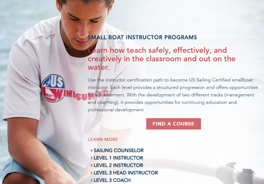 US Sailing Instructor Courses